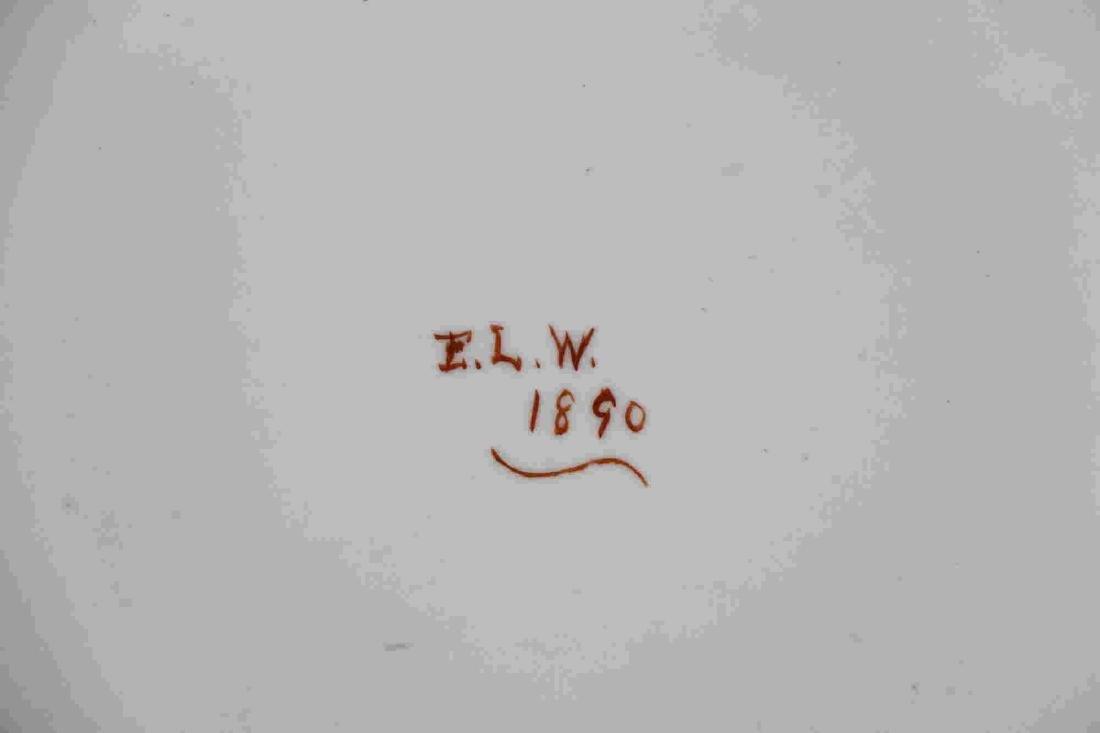 ENGLISH ANTIQUE IRONSTONE PLATTER C 1890 - 3