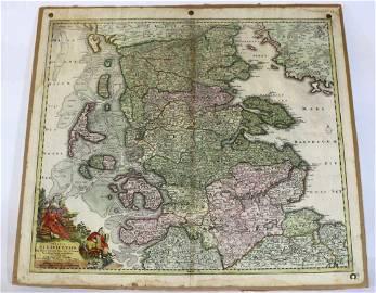 JOHANN BAPTIST HOMANN (1644-1724) ANTIQUE MAP