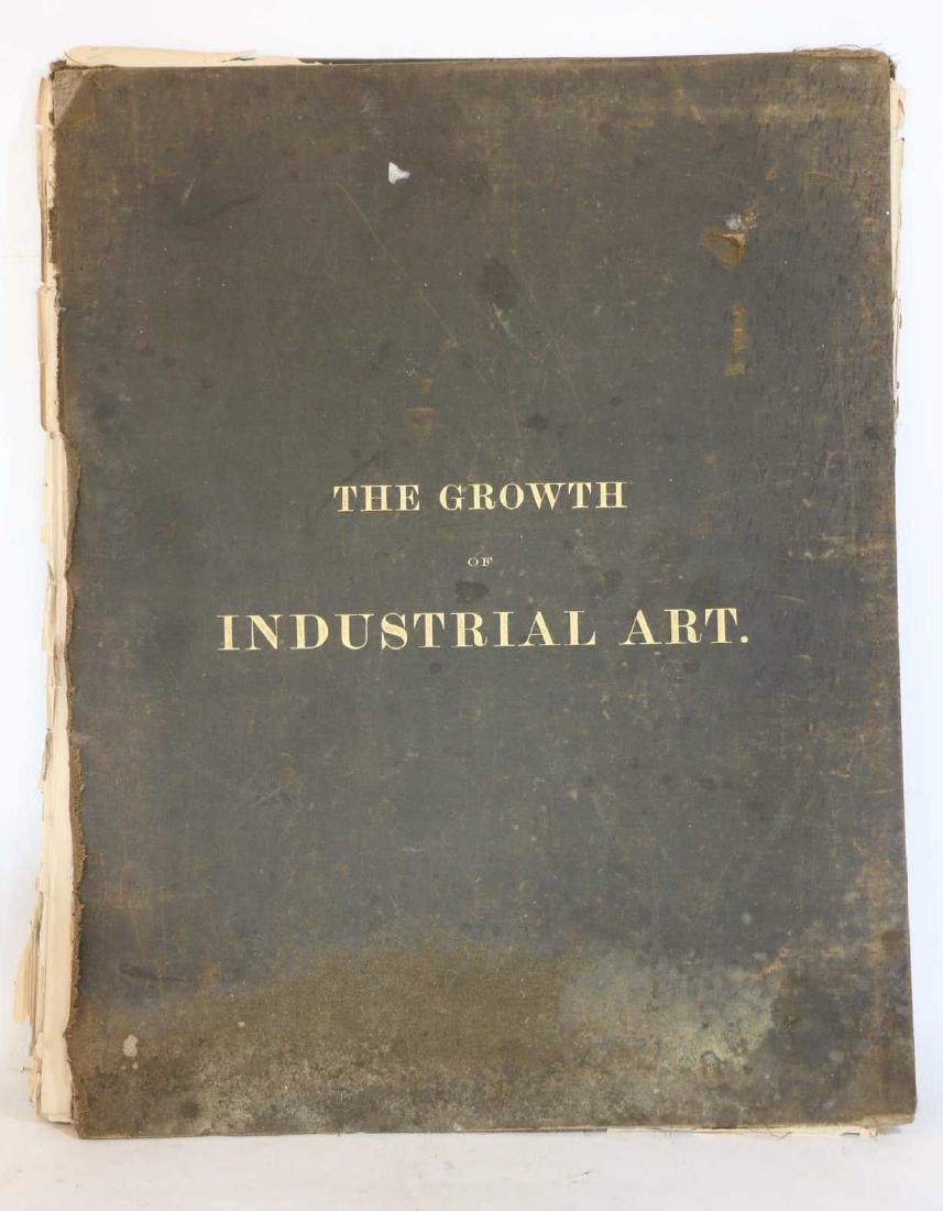 """1888 ANTIQUE """"THE GROWTH OF INDUSTRIAL ART"""" BOOK"""