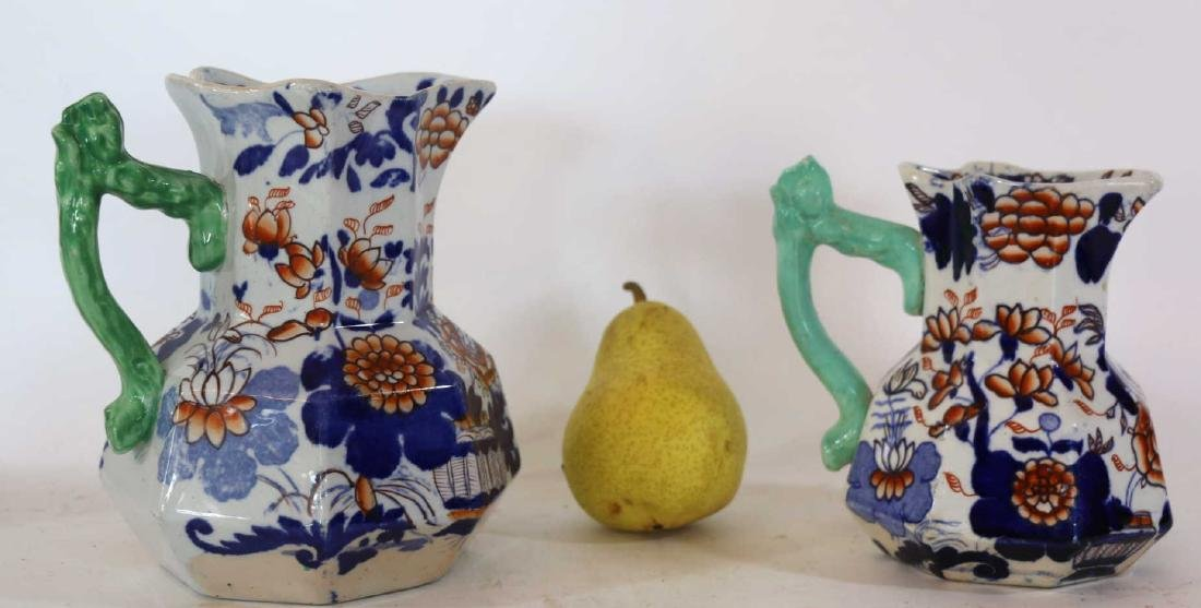 ENGLISH MASONS ANTIQUE IRONSTONE PITCHERS