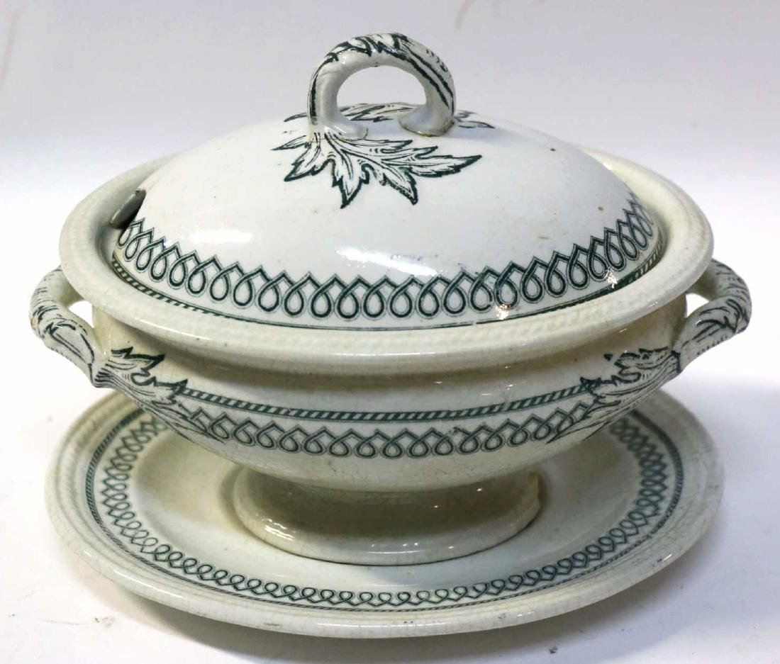 ENGLISH 19TH C. IRONSTONE SAUCE TUREEN