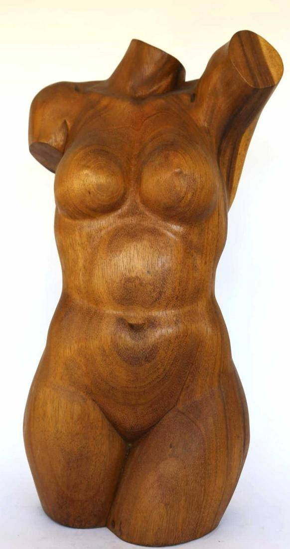 MID CENTURY MODERN FEMALE TORSO SCULPTURE
