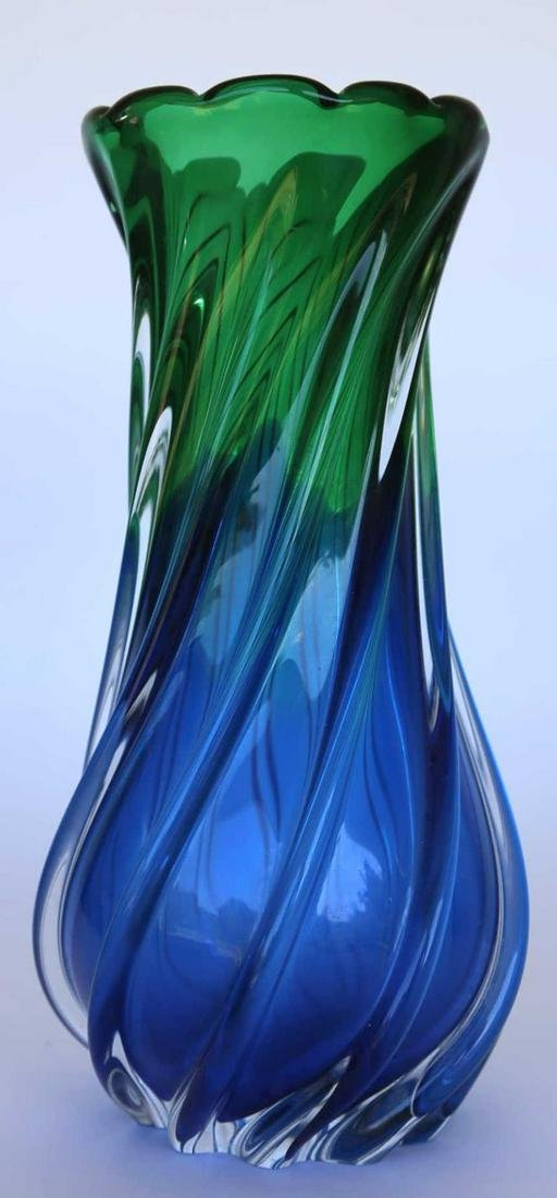ITALIAN MURANO HAND BLOWN ART GLASS VASE