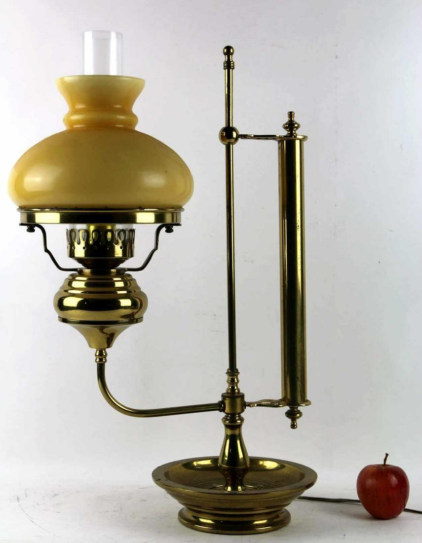 AMERICAN FINE VINTAGE BRASS STUDENT LAMP