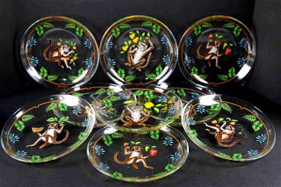 """LYNN CHASE 11""""HAND PAINTED CABINET PLATE GROUPING"""