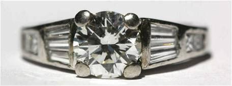 PLATINUM 1.7 CT BRILLIANT DIAMOND ENGAGEMENT RING