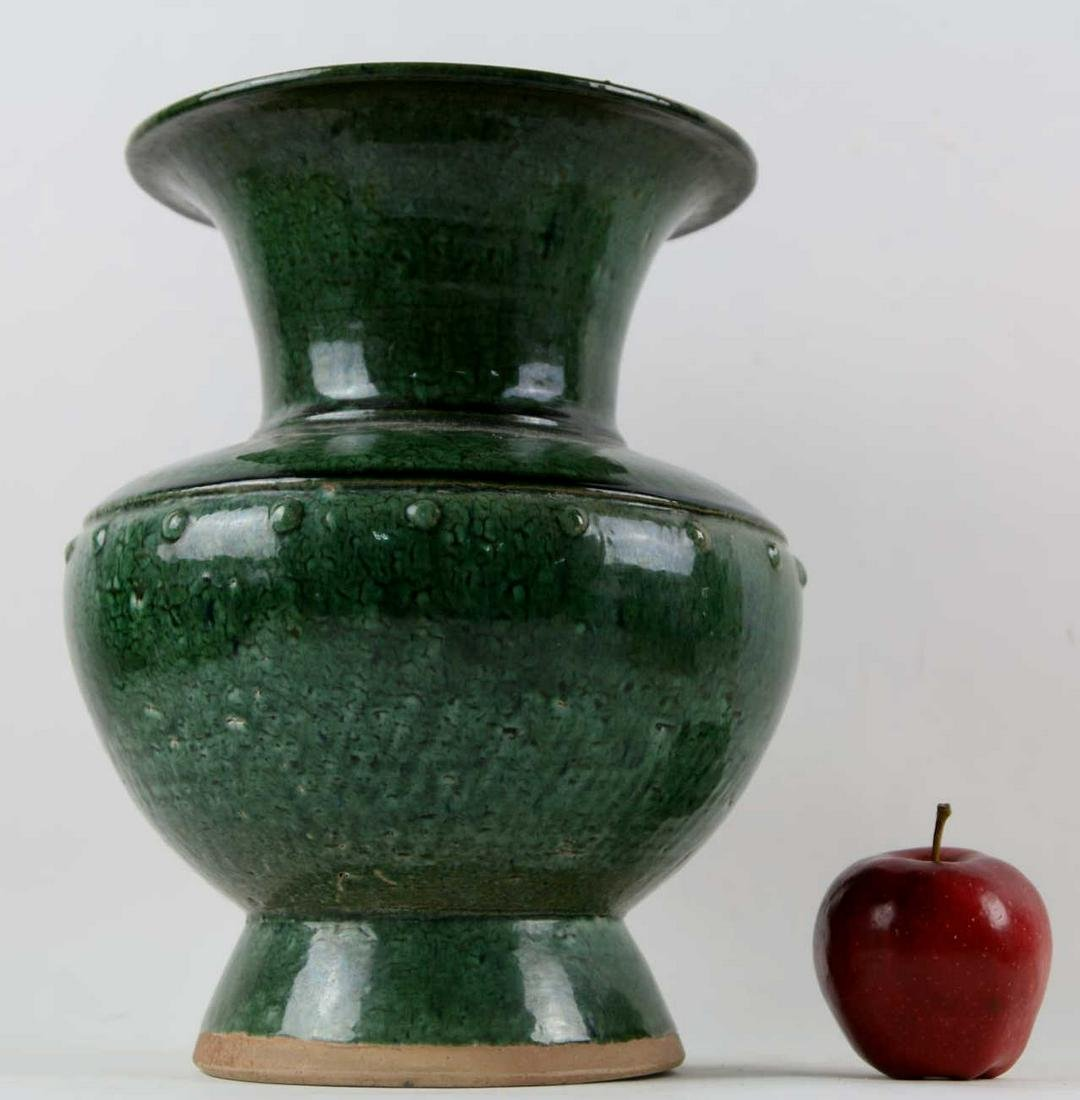 CHINESE FLAMBÉ GLAZED CELADON MARTABAN STORAGE JAR