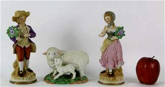 ENGLISH BISQUE PORCELAIN FIGURAL GROUPING