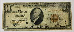1929 PHILADELPHIA PA RESERVE RED CURRENCY NOTE