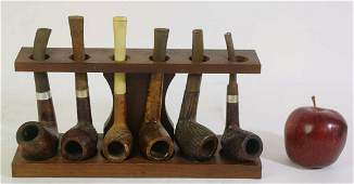 VINTAGE PIPE GROUPING WITH STAND