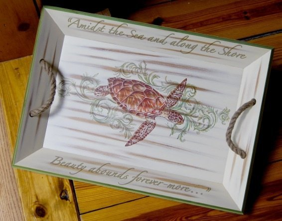 9: Sea Life Tray and Pillows by Right Side Design
