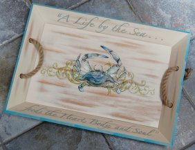 10: Sea Life Tray and Pillows by Right Side Design