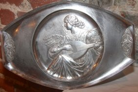 18: 19th Cent. Silver Angel Charger by Luisana Designs