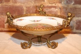 24: 1950's Hand Painted Compote by Stout's Great Stuff