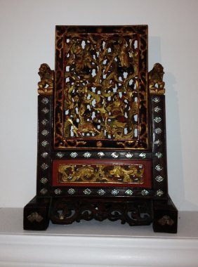 13: Sm. Chinese Decorative Screen by Garland Originals