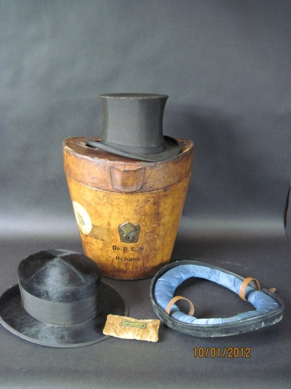 LINCOLN BEAVER TOP HAT BY DUNLAP & CO.: