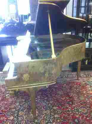 MAX KUEHNE(AMERICAN 1880-1968)JAPANNED EMBELLISH PIANO: