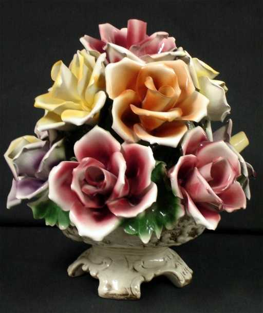 Capodimonte porcelain flower basket see sold price thecheapjerseys Images