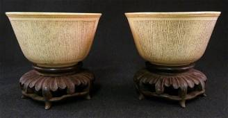 EARLY CHINESE IVORY POEM CUPS: