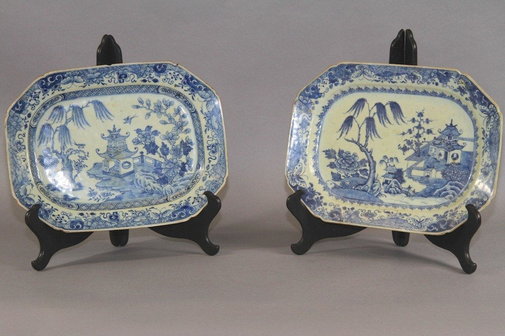 4: PAIR OF EARLY CANTON 19TH CENTURY CHARGERS: