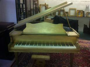 188: MAX KUEHNE (AMERICAN 1880-1968) JAPANNED PIANO: