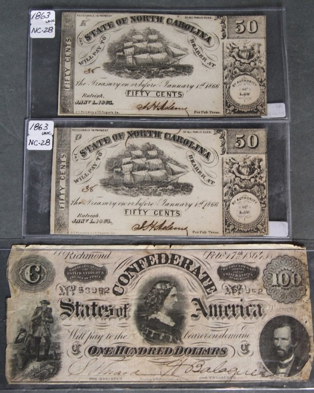 LOT OF CONFEDERATE MONEY
