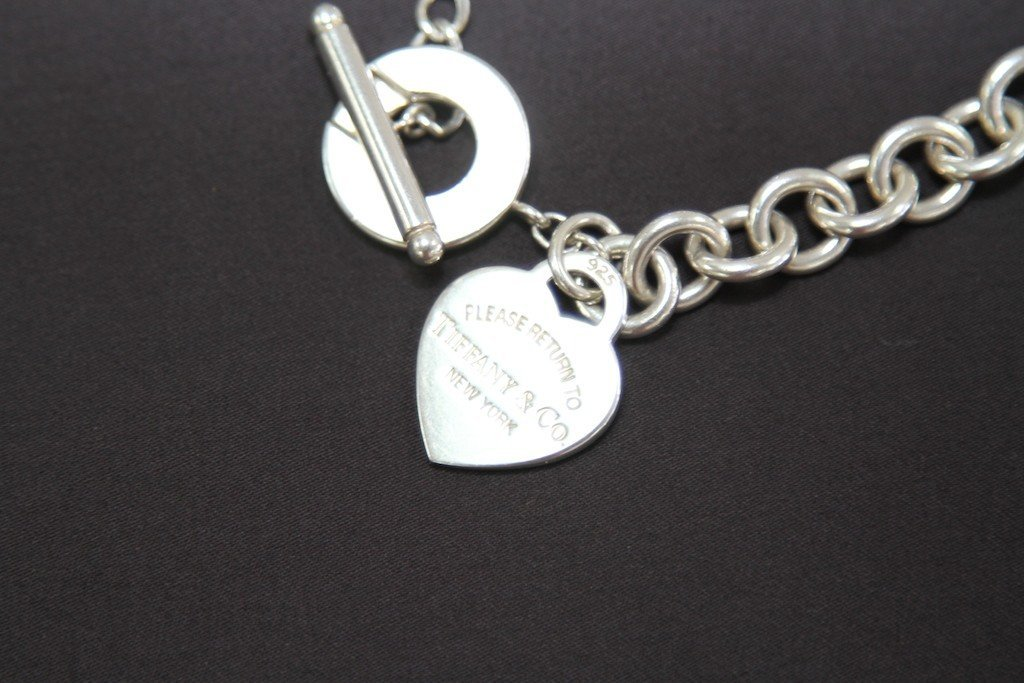 RETURN TO TIFFANY HEART TAG CHARM TOGGLE NECKLACE: - 2
