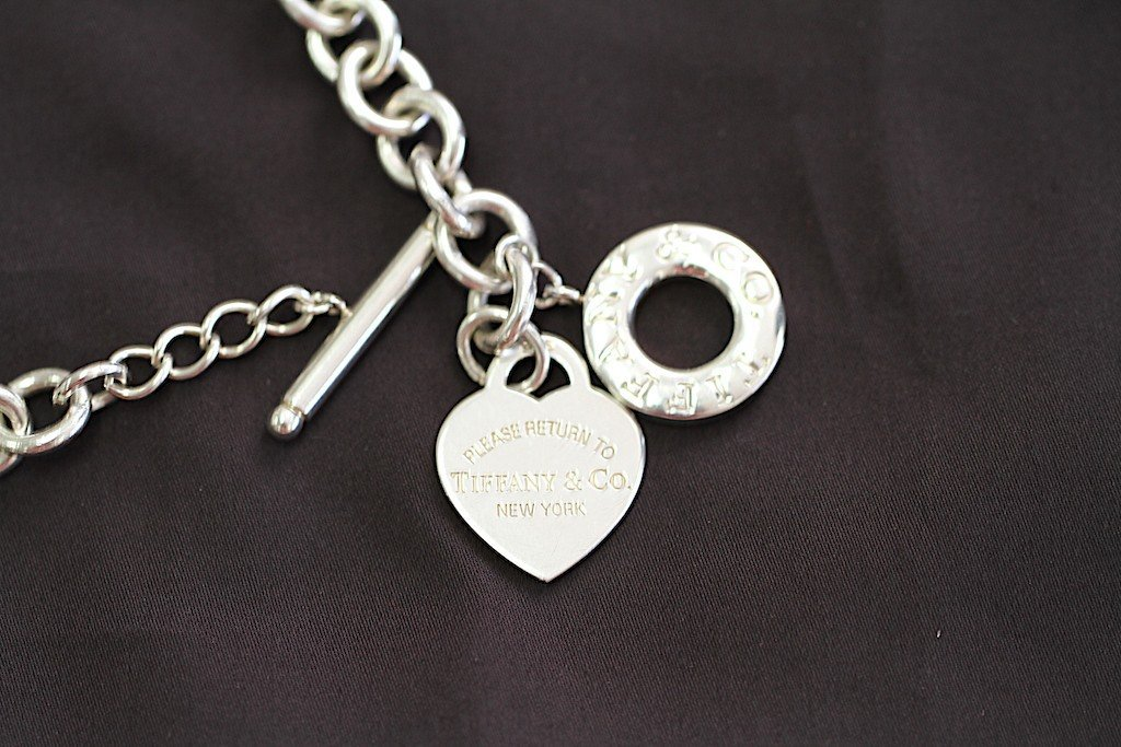 RETURN TO TIFFANY HEART TAG CHARM TOGGLE NECKLACE: - 3