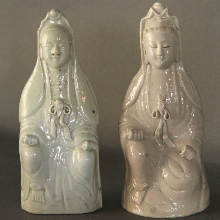 EARLY BLANC DE CHINE FIGURES: