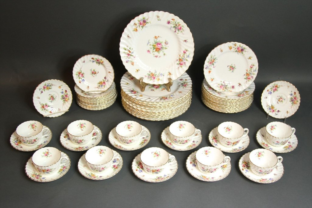 "MINTONS ""MARLOW"" ENGLISH PORCELAIN SERVICE FOR 12:"