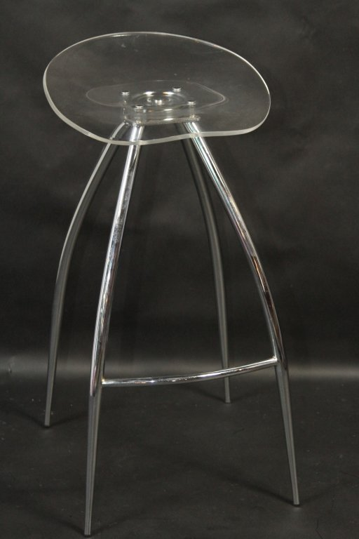 LUCITE MODERN BAR STOOL: