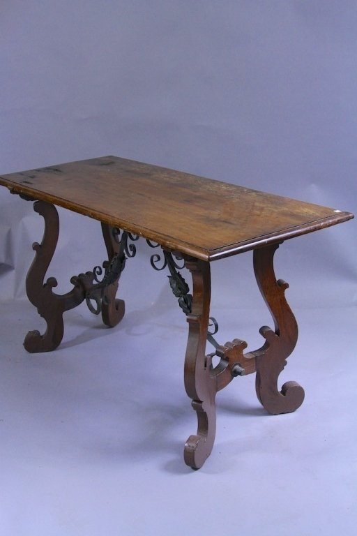 18TH C. SPANISH TRESTLE TABLE: