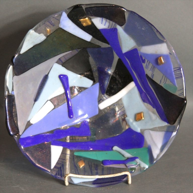 3 ART GLASS CHARGERS: