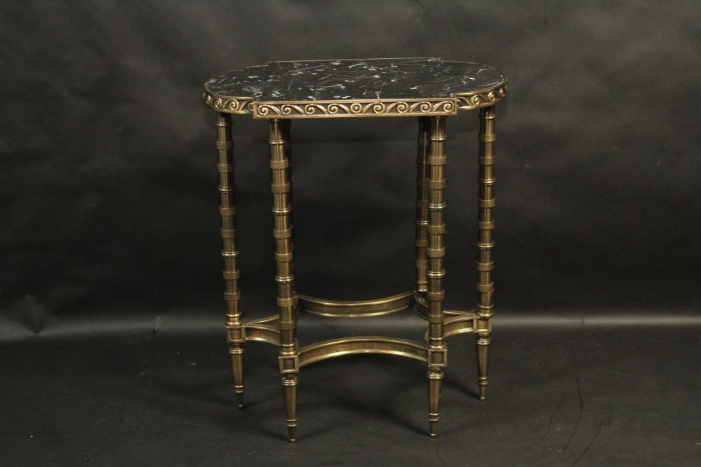 MARBLE TOP SIDE TABLE: