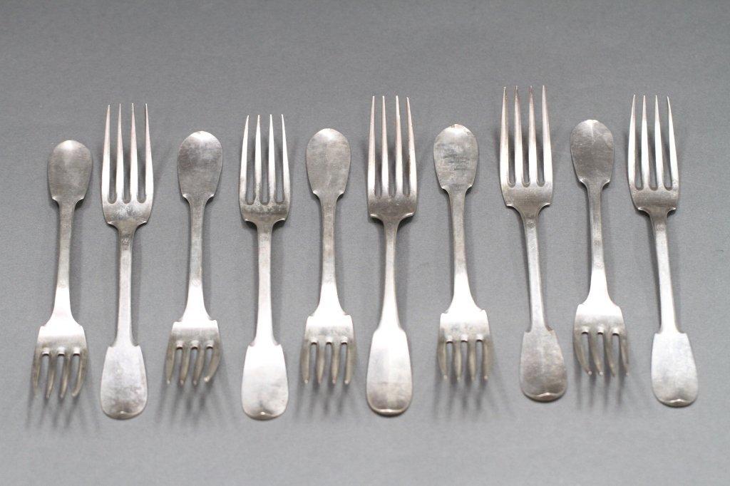 STERLING DINNER FORKS (RISLER-KIST) PARIS: