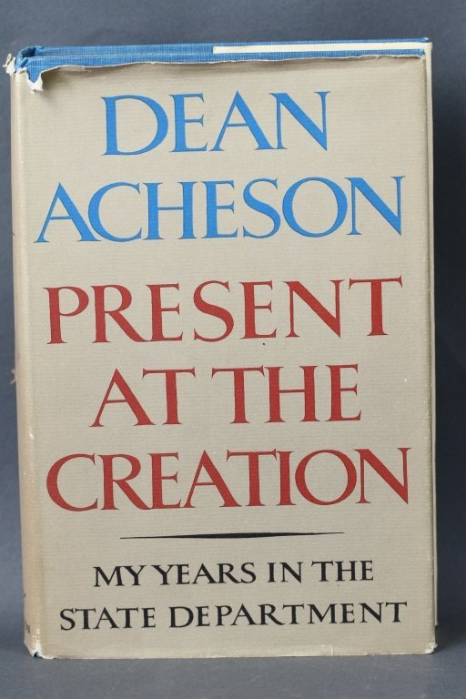 DEAN ACHESON 1ST EDITION, SIGNED BOOKS: