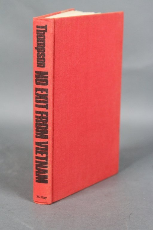 "THOMPSON ""NO EXIT FROM VIETNAM"" 1ST AMER. EDITION:"