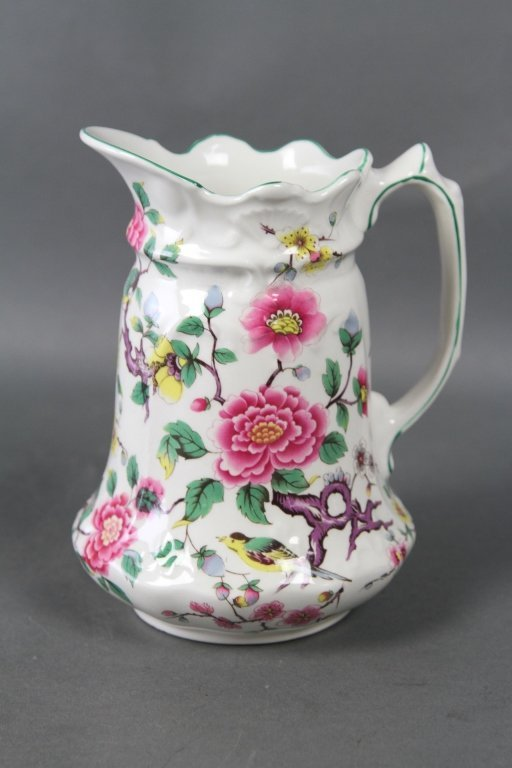 KENT JAMES(ENGLAND) CHINESE ROSE PITCHER: