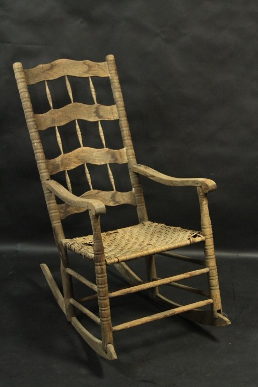 PRIMATIVE ROCKING CHAIR: