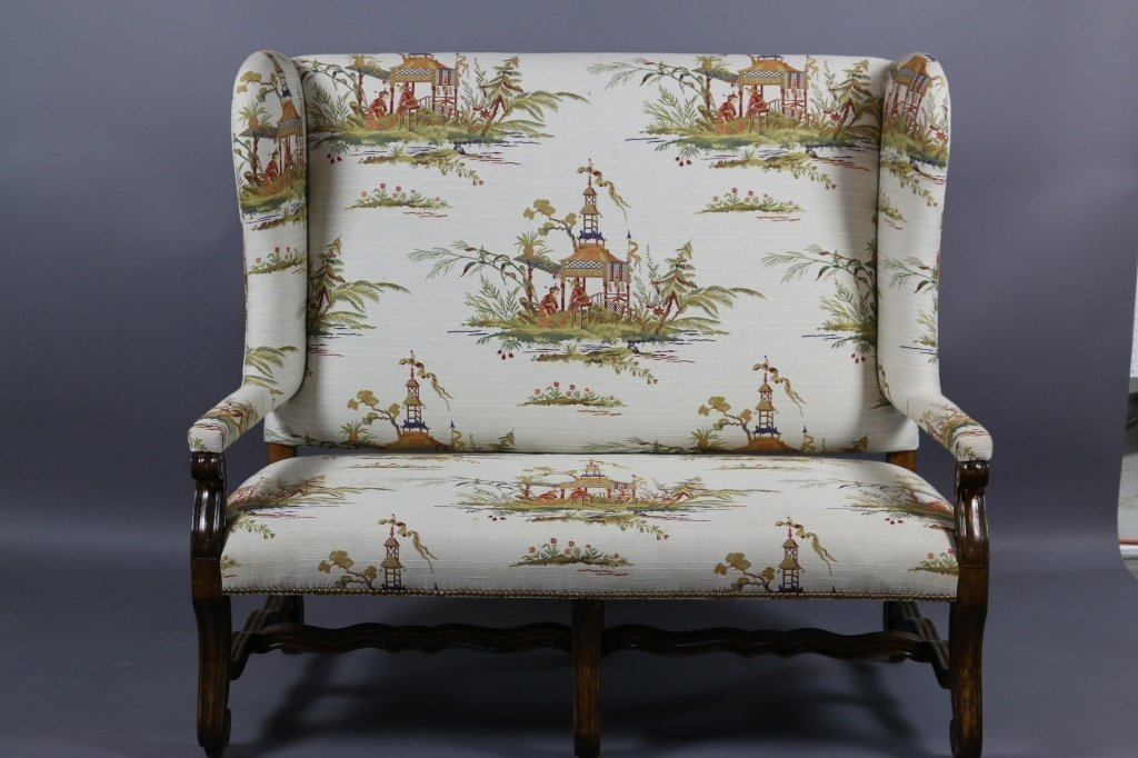 ENGLISH RALPH LAUREN HIGHBACK LOVESEAT