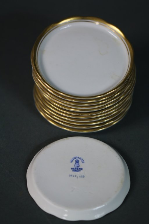 HEREND BUTTER PLATES