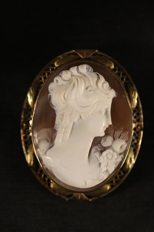 CAMEO VERY FINE VINTAGE MOUNTED IN GOLD