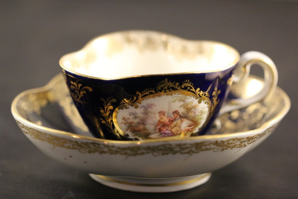 MEISSEN VERY FINE CUP AND SAUCER