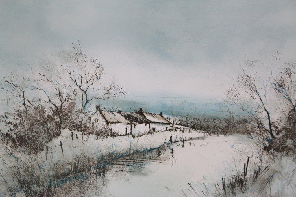 "D'IZARNY  ""FARM BUILDINGS IN SNOW""  31/275"