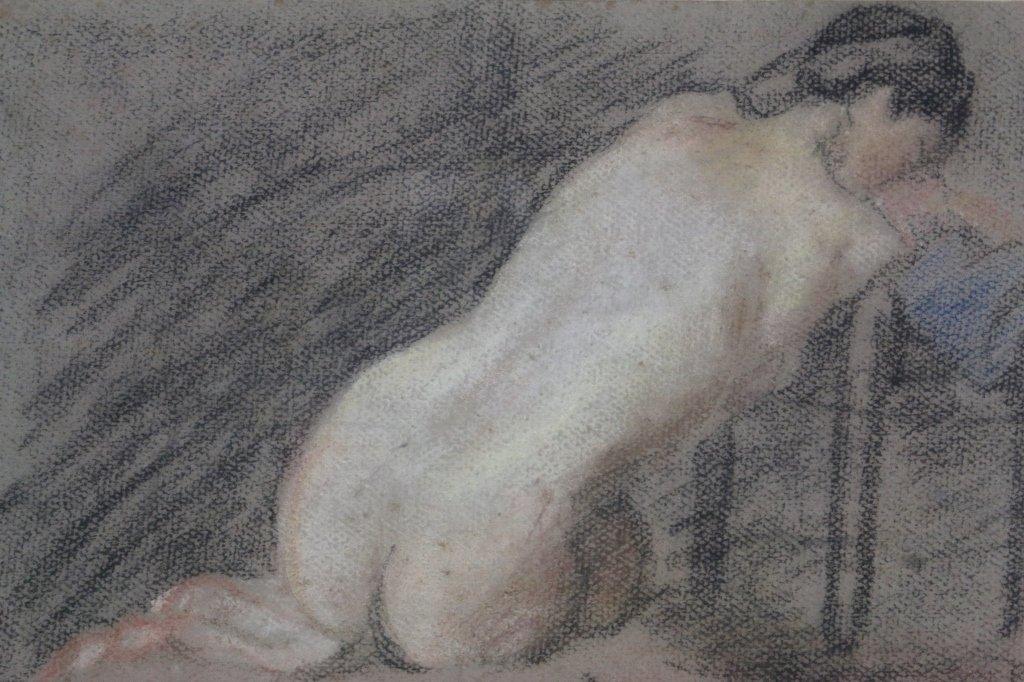 DAME LAURA KNIGHT 1877-1970 BRITISH  NUDE STUDY