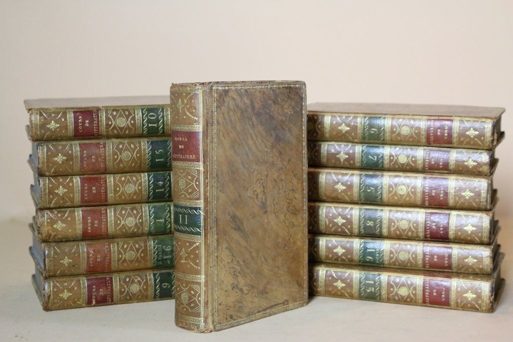 COURS DE LITTERATURE 19TH C. FRENCH (18 VOLUMES)