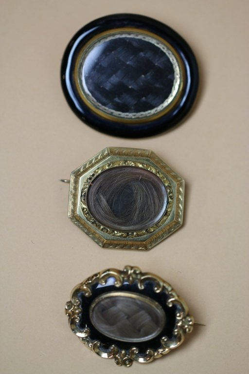 VINTAGE VICTORIAN HAIR MEMORIAL LOCKETS