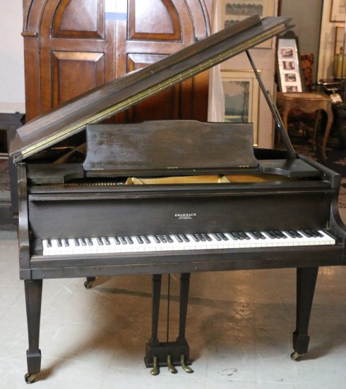 Quot Brambach Quot New York Mahogany Baby Grand Piano