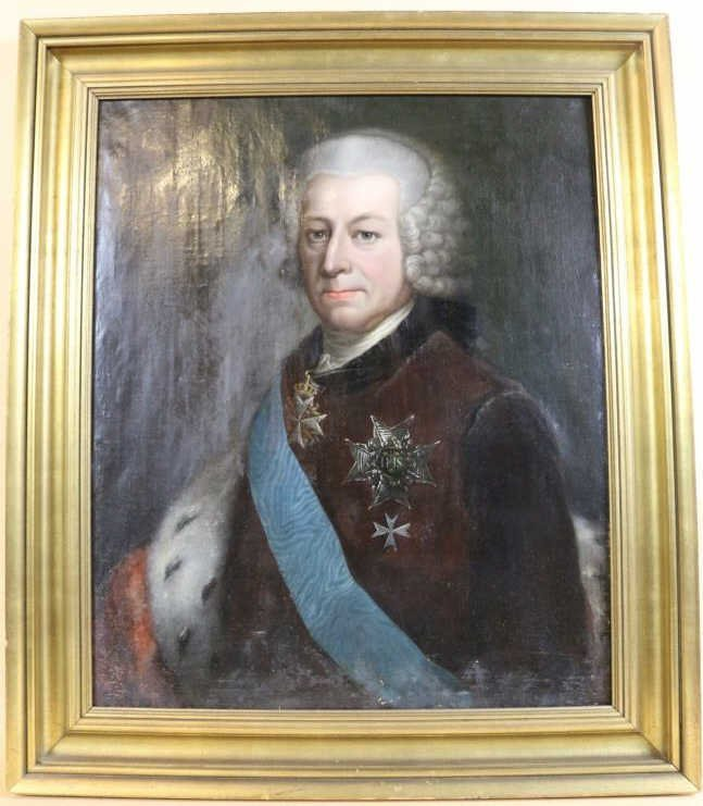 18TH C. GERMAN PORTRAIT OF A GENTLEMAN IN UNIFORM
