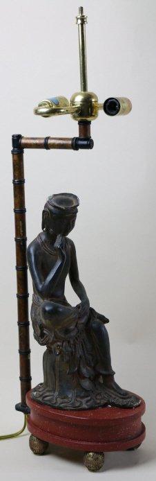 FREDERICK COOPER CHINESE BRONZE LAMP